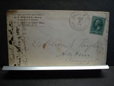 1881 SOLDIER's & SAILOR's HOME Postal History Cover BATH, STEUBEN County, NY