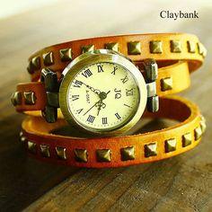 8 Colors vintage punk watches