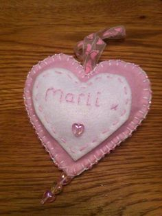 Baby personalised heart