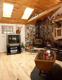 Turn Garage Into Living Space | Garage01 @Carol Kruse   Look At The Table ! Wood  Stove ... Part 79
