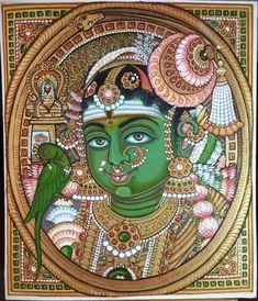 Mysore Painting, Kerala Mural Painting, Madhubani Painting, Indian Art Paintings, Art Diary, Krishna Art, Hindu Art, Indigenous Art, Buddhist Art