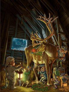 Elves and raindeer