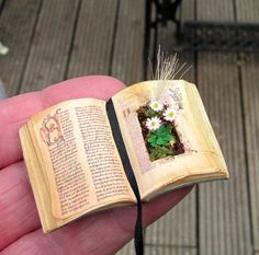12th scale Miniature flower book 3 by karin55 on Etsy