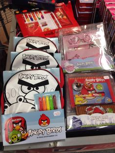 Angry Birds assorted drawing/colouring sets
