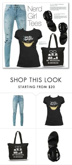 """Nerd Girl Tees"" by amra-mak ❤ liked on Polyvore featuring Yves Saint Laurent, Canvas by Lands' End and nerdgirltees"