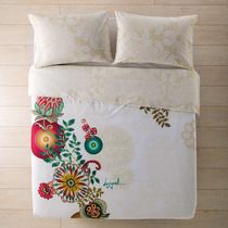 Funda de edredón conjuntos de alta calidad audaz Pintado Floral Rosa Solo Doble King Tamaños