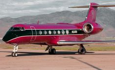 Private Jet Pink ☆ ♥ It's the dream jet for every girl ALL THINGS PINK! #luxuryprivatejets