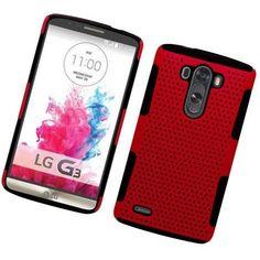 Eaglecell LG G3 Astronoot Hybrid Mesh Case - Red/Black