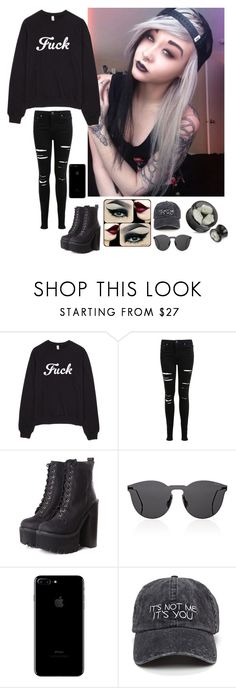 """""""ootd -Nirvana"""" by h-oran93 ❤ liked on Polyvore featuring Miss Selfridge, Jeffrey Campbell, Younique and Illesteva"""