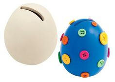 Ceramic Egg Coin Saver Pack of 6 - MTA Catalogue A creative way to help children learn to save money. Children can paint the egg allow to dry then start saving! There is a sealable cap at the bottom.