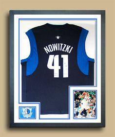 de37eadd8b9 Dirk Nowitzki Dallas Mavricks Backetball jersey frame
