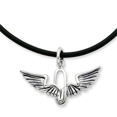 Renewed Strength, Wings Necklace in Sterling Silver