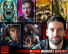 Meet Robert Bruno at #SLCC15! Appearing as part of Poster Posse! combines a realistic painting flair with a pop art accent to create a unique illustrative style. #utah
