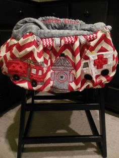 Rescue Shopping Cart - Highchair Cover on Etsy, $60.00