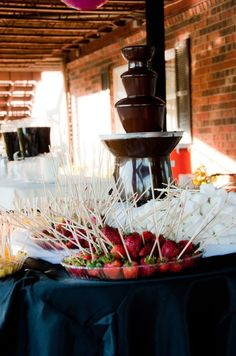 62 Tasty Wedding Cake Alternatives guests go gaga over chocolate fountains, Lookout Lake Chattanooga Tennessee wedding. Chocolate Fountain Wedding, Chocolate Fountain Recipes, Chocolate Fountains, Blush Wedding Cakes, Big Wedding Cakes, Wedding Cake Prices, Wedding Stuff, Wedding Ideas, Wedding Themes