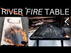Fire Epoxy Table - Woodworking Projects - Resin Art - YouTube Diy Resin Table, Epoxy Wood Table, Woodworking Tutorials, Learn Woodworking, Modern Man Cave, Epoxy Countertop, Diy Epoxy, Fire Table, Handmade Furniture