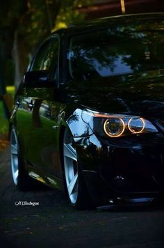 Black Bimmer Angel Eyes