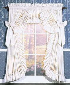 Priscilla Curtains | Country Curtains | Carolina Curtains & Ruffled Curtains, Swags, Valances & Tiers | PaulsHomeFashions.com