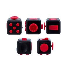 Description: An unusually addicting, high-quality desk toy designed to help you focus. Fidget at work, in class, and at home in style. Stress relief machine. How do i use it? It's simple.Fidget Cube (patent pending) has six sides.Each side features something to fidegt with: 1.Spin Looking for a circular fidget?Take this dial for a spin. 2.Glide You don't have to be a gamer to enjoy the unusually satisfying gliding action of this joystick. 3.Click No need to click that pen anymore.You'll find…