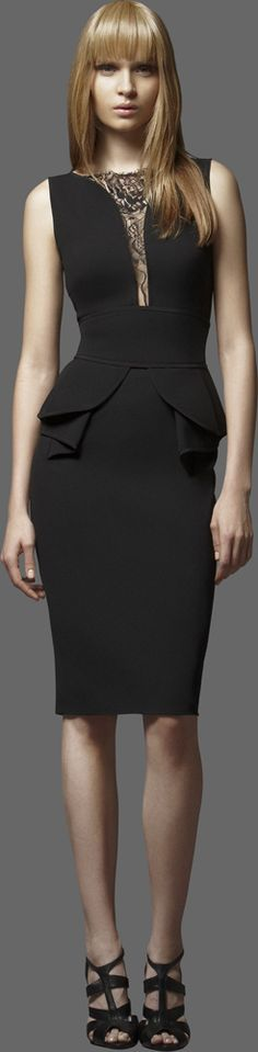 Love this! Black is simple yet so elegant. When I see a black dress I see a white canvas #anythinggoes :) ELIE SAAB