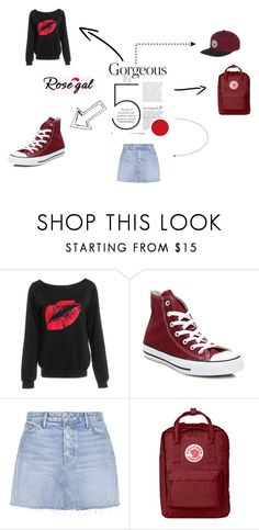 """rosegal on point"" by karillaaa ❤ liked on Polyvore featuring Converse, GRLFRND, Fjällräven and Coal"