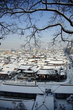 Hanok village in Jeonju, South Korea