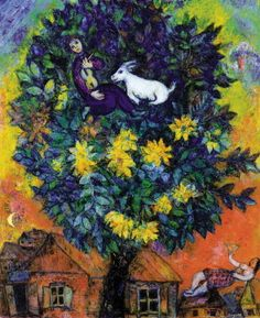 Una mujer sin sombrero - Marc Chagall