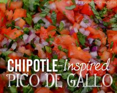 This copycat Chipotle Pico de Gallo salsa recipe will blow you away with it's fresh flavor! Mexican Dishes, Mexican Food Recipes, Spanish Recipes, Whole 30, Chipotle Copycat Recipes, Chipotle Hacks, Spicy Salsa, Cooking Recipes, Healthy Recipes