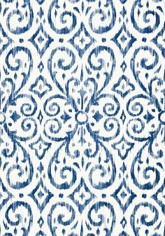 Patara Ikat #wallpaper in #navy from the Caravan collection. #Thibaut