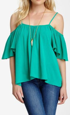 Mimi Chica Boho Cold Shoulder Blouse