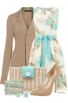 Today we will talk about the best summer work outfit ideas for 2019 year. If you want to find some great work outfit pictures and ideas. Mode Outfits, Dress Outfits, Fashion Outfits, Womens Fashion, Fashion Trends, Dresses Dresses, Floral Dresses, Classy Outfits, Casual Outfits