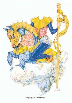 Rei Arthur, Guinevere e os Cavaleiros da Távola Redonda! Mais bonecos de papel para você colecionar.