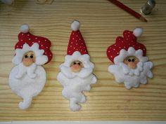 Broches de Papá Noel.