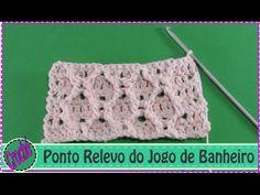 Croche Ponto Relevo do Jogo Banheiro em Barbante - YouTube