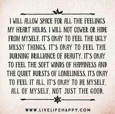 It's okay to feel