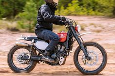 It looks like a vintage dirt bike, but it is actually a cleverly disguised modern-day Husqvarna 510.