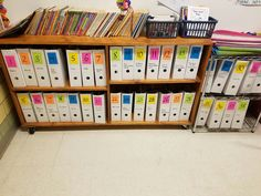 *MY OWN PIN- this is an example of a classroom library that isn't inviting to readers. In TCH 273 we learned that classroom libraries should have books out where you can see them so that children can explore the titles. Even though it looks very organized this way, in my own classroom I will chose to do something different.