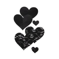 Bristols 6 Heart Nippies ($12) ❤ liked on Polyvore