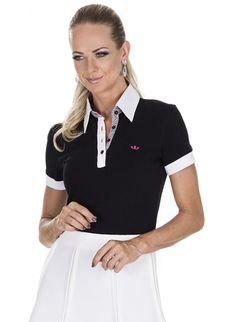 camisa polo preta principessa natalia Camisa Polo Preta 8efb28a1f624e