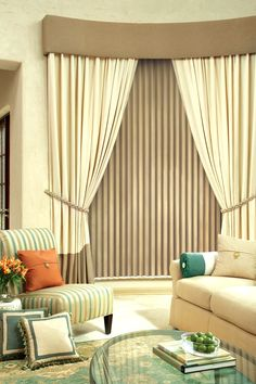 blinds for living room with curtains cheap tables 19 best vertical images windows panels and tie backs give the a sophisticated look