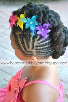 Natural Hair Updo: Twisted Cinnabuns w/ Cornrows | Curly Nikki | Natural Hair Styles and Curly Hair Care