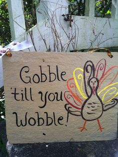 Thanksgiving turkey yard decor from etsy...  #Gobble #turkey #fall #thanksgiving #sign #yarddecor #fall @Amber Johnson Just Slate Owner: Jessica Beares #budgettravel #travel #diy #craft #holiday #holidays #Thanksgiving #winter www.budgettravel.com