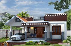 rumah mewah 1 lantai modern