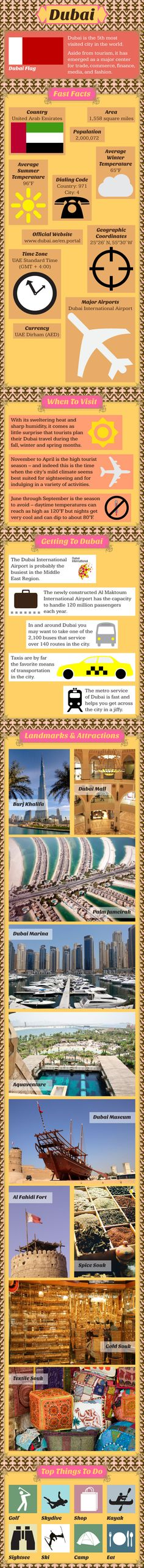 Dubai Travel Infographic