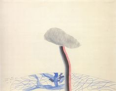Swimming Pool and Garden, Beverly Hills, 1965 pencil and colored crayon on paper, 19 x 24 in. David Hockney