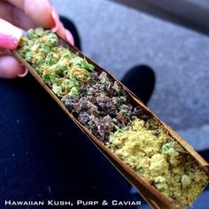 Blunt with Hawaiian Kush, Purp & Caviar