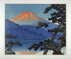 川瀬巴水: Mount Fuji from Lake Shoji - Legion of Honor