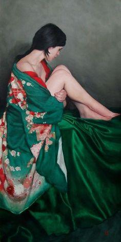 Rew, Stephanie (b,1971)- Woman- Pose- Arms Wrapped Around Legs