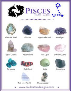 Healing Crystals associated with each of the 12 Houses of the Zodiac - Pisces Crystal Healing Stones, Crystal Magic, Healing Crystal Jewelry, Quartz Crystal, Chakra Crystals, Crystals And Gemstones, Stones And Crystals, Gem Stones, Spirit Quartz