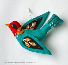 mmmcrafts: blue bird of happiness